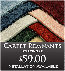 Carpet remnants starting at $59.00 - installation available - at Flooring & Carpet Warehouse in Coram