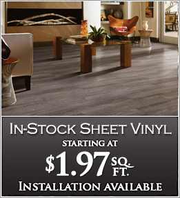 In stock sheet vinyl starting at $1.97 sq/ft installation available - at Flooring & Carpet Warehouse in Coram