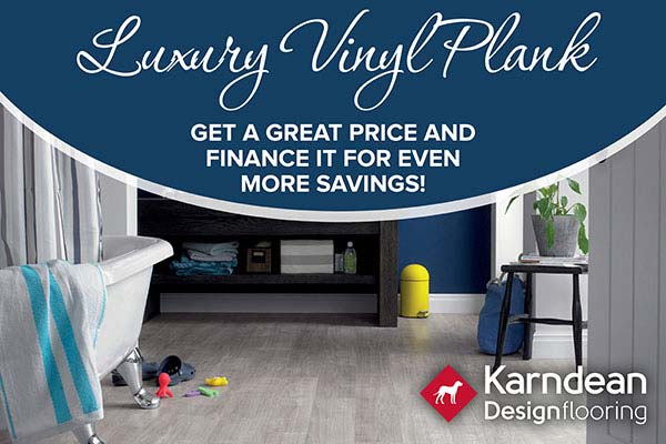 Luxury Vinyl Plank in-stock and on sale! Available in many colors and textures at Flooring & Carpet Warehouse in Coram.
