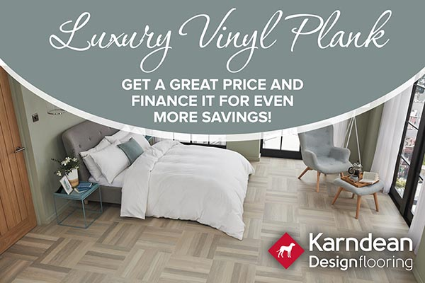 Luxury vinyl plank Karndean. Get a great price and finance it for even more savings