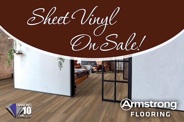 Sheet vinyl on sale. Armstrong flooring